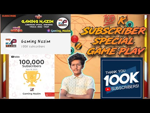 Carrom Pool  /100K subscriber special game play /  Indirect game play / Insane Game Play /  🤓😋