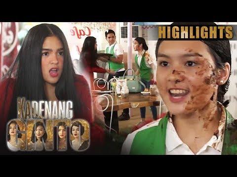 Cassie, binuhusan ng kape si Marga   Kadenang Ginto (With Eng Subs)