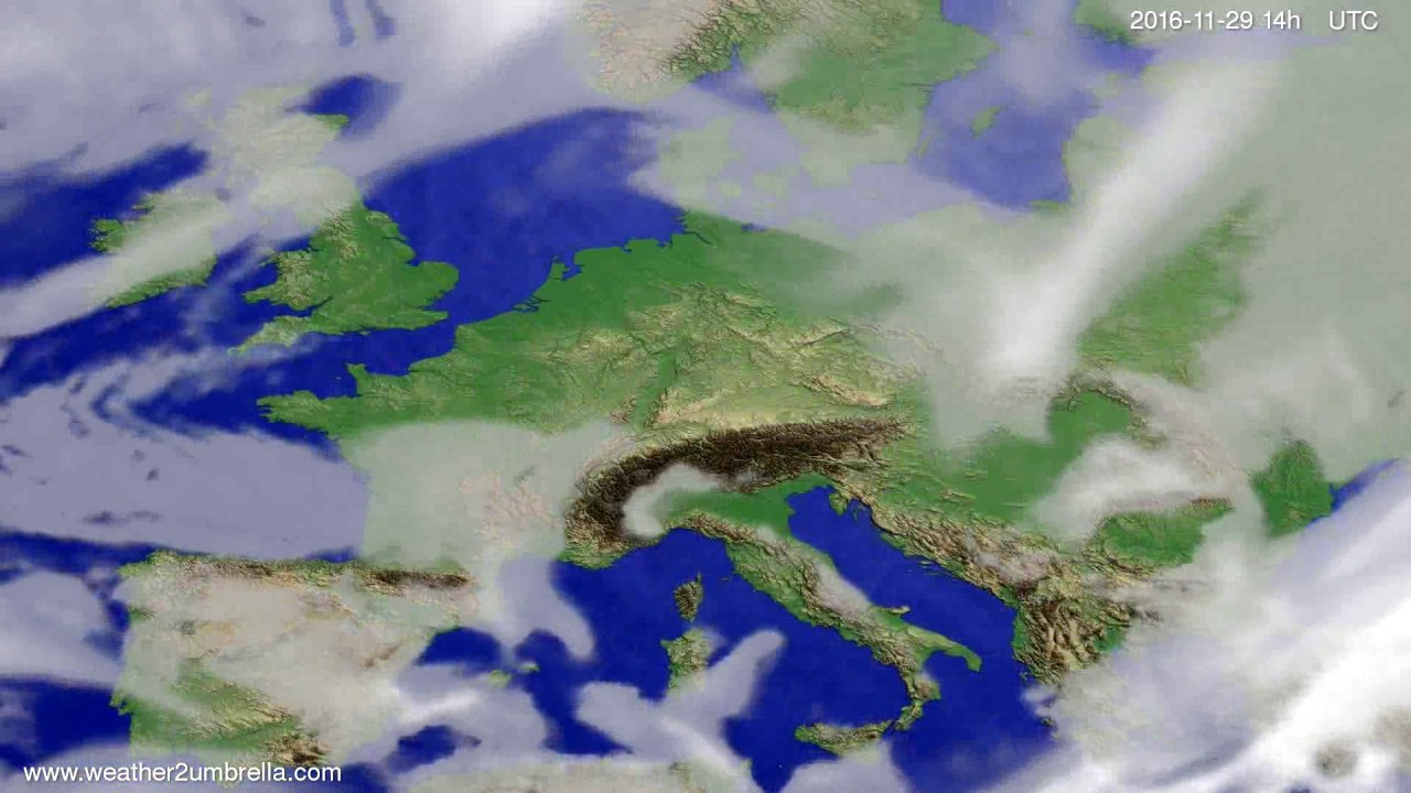 Cloud forecast Europe 2016-11-25