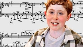 Nine-year-old piano prodigy Gavin George displays his amazing perfect pitch and invites viewers to test their own musical ear in a...