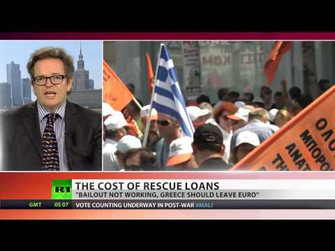 'Starvation & poverty result from Greek bailouts'