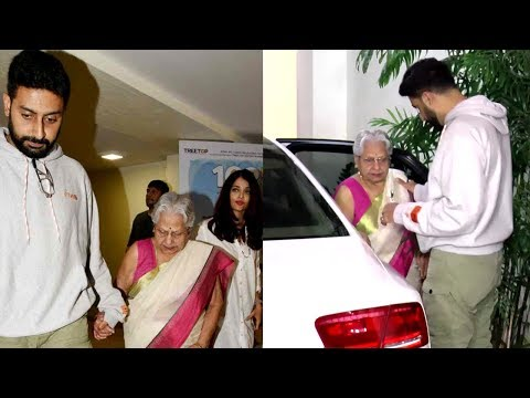 Abhishek Bachchan and Aishwarya Rai SWEET GESTURE