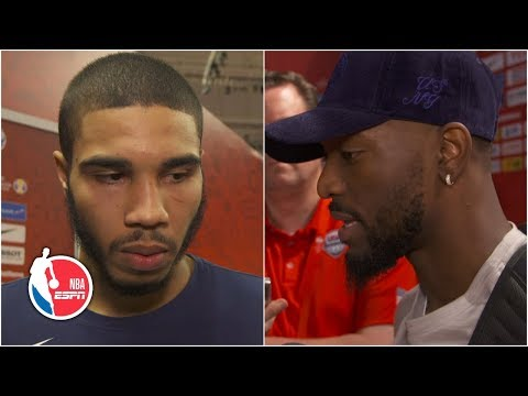 Video: Kemba Walker and Jayson Tatum speak after Team USA's win vs. Czech Republic | 2019 FIBA World Cup