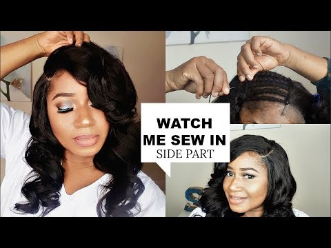 WATCH ME SEW IN || LACE CLOSURE , SIDE PART