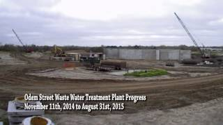Waste Water Treatment Center Progress 8/31/2015 [Time-Lapse Video]