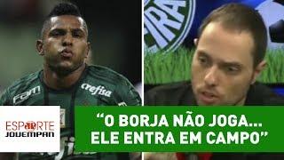 Repórter Marcio Spimpolo, da Rádio Jovem, criticou o atacante Miguel Borja, do Palmeiras.