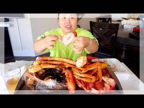 MUKBANG SEAFOOD BOIL! 먹방 (EATING SHOW!) JOE'S CRAB SHACK! - Thời lượng: 19 phút.