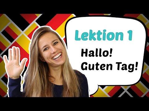 GERMAN LESSON 1: Learn German for Beginners - German Greetings 🤗 (видео)