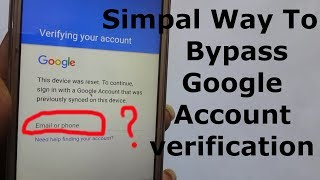 Video Simpal Way To Bypass Google Account Verification (With out PC OTG ASSIST BUTTON) MP3, 3GP, MP4, WEBM, AVI, FLV September 2019