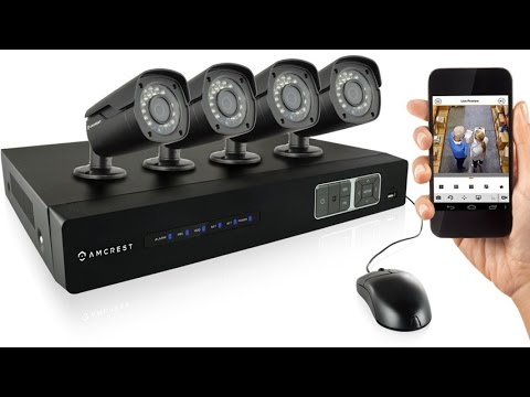 Amcrest 720P HD Over Analog 4CH Video Security System With 1TB HD For 360 Hours 8Ch Recording