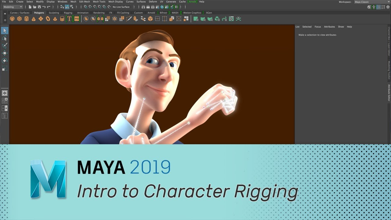 learning 3d character rigging maya tutorial