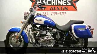 4. 2012 Triumph America Two-Tone  - Dream Machines Indian Mo...
