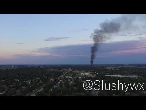 July 10, 2018 Sun Prairie, Wisconsin Fireball and Smoke Plume Drone Footage