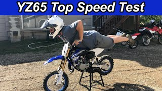 1. Yamaha YZ65 Top Speed Run