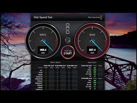 Samsung 840 EVO 500GB SSD Speed Test! - Macbook Pro (Late 2011) 16GB RAM Speed Test