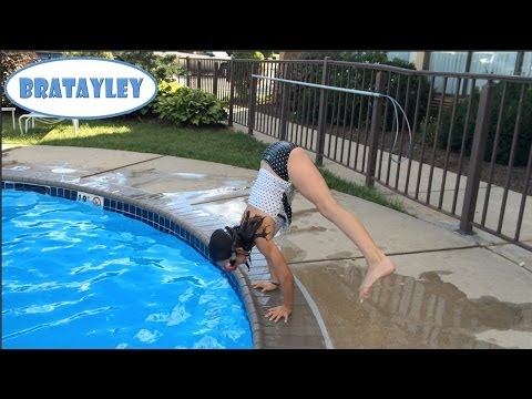 Press Handstands by the Pool (WK 183.3) | Bratayley