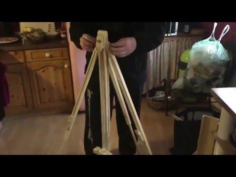 How to assemble painter's easel disassembly easel Staffelei aufbauen und abbauen Anleitung