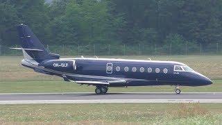 ECLair Aviation Graz Airport 09.07.2017 Landing Graz Airport  GRZ  LOWG Runway 35C, 3000m x 45m Asphalt Gulfstream G200 OK-GLF Latest pictures and news als...