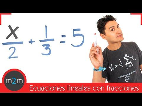 Rationale linearen Gleichungen (mit Brüchen)