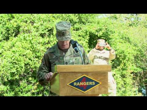 Sergeant Major of the Army Dan Dailey's Ranger Graduation Remarks