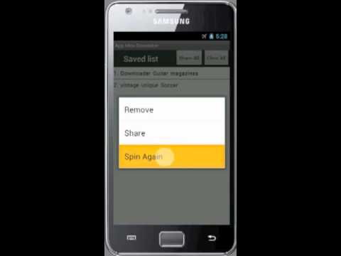 Video of Idea for android app