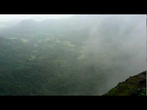 Foggy Malshej Ghat Valley