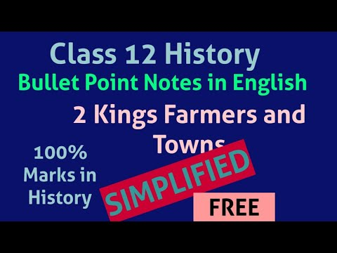 Class 12 History Notes in English Chapter 2 Kings Farmers and Towns