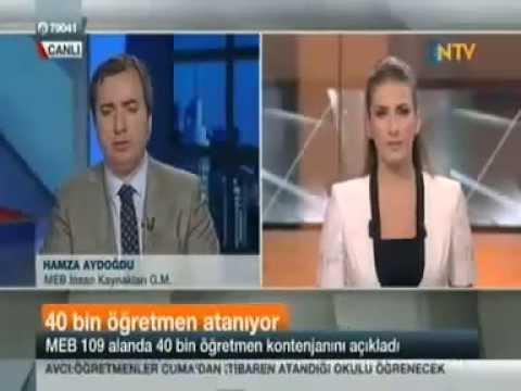 Hamza AYDOĞDU NTV'ye Sorun Canlı Yayınında