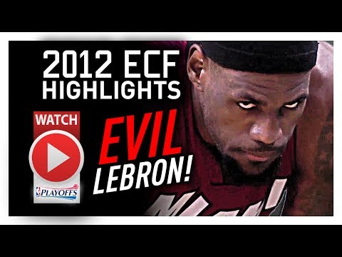 Throwback: LeBron James ECF Offense Highlights VS Celtics 2012 Playoffs - MONSTER!