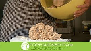 Stufe1 zur Herstellung des Natursauerteiges für das Brotrezept zum Dinkelvollkornbrot