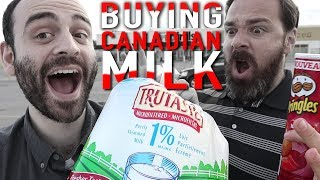 Video American explores Canadian grocery store (tries BAGGED milk and Ketchup chips) MP3, 3GP, MP4, WEBM, AVI, FLV Agustus 2019