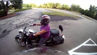 10. Beginning Motorcycling: Sally Starts out slowly on a Suzuki Boulevard