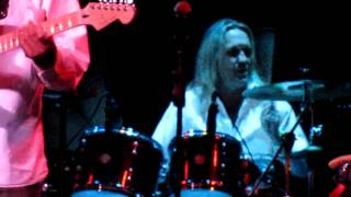 Nicko McBrain, drummer for Iron Maiden, jams with the BB King's Blues Club's House Band at The Gater 98.7 FM's 12 Guitars of ...