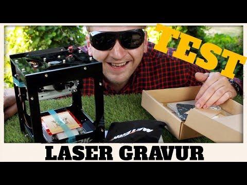 LASER GRAVUR MASCHINE  Deutsch Test Review ( MEGA GEIL ! ) 1500Mw