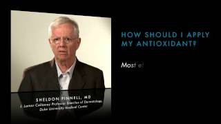 How should I apply my antioxidant?