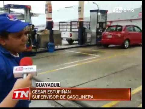 Afluencia de conductores por gasolina Ecopaís que cambió precio