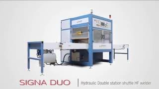 Signa Duo - Double side shuttle - pneumatic or manual drive trays High Frequency Welder