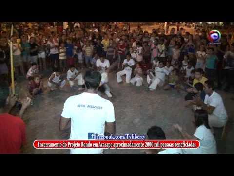 O encerramento de mais um ciclo do Projeto Rondon em Acarape RODA DE CAPOEIRA