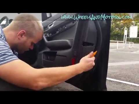 How to change switches (buttons) for electric windows on drivers door Audi A6 (C6 4F)