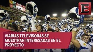 Varios canales de televisión abierta mexicana, se unen a la transmisión de siguiente temporada de la Liga de Futbol americano estudiantil.21 julio de 2017 COMENTA ESTE VIDEO Y COMPARTELO CON TUS AMIGOSPara más información entra: http://www.youtube.com/excelsiortvNo olvides dejarnos tus comentarios y visitarnos enFacebook: https://www.facebook.com/ExcelsiorMexTwitter: https://twitter.com/Excelsior_MexSitio: http://www.excelsior.com.mx/tvSuscríbete a nuestro canal: https://www.youtube.com/channel/UClqo4ZAAZ01HQdCTlovCgkA