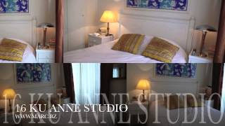 16 区 ANNE ET JAQUES 大アパート内家具付き貸部屋。専用バスルーム、キチネット付。居住証明書相談。長期1300 EURO/月、敷金無。