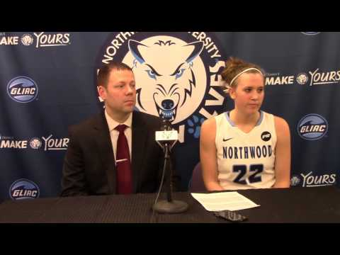 Northwood University Women's Basketball (1/30/16) NU 76, Northern Michigan 46 - Press Conference