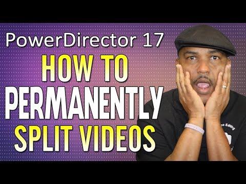 How to Permanently Split Videos in CyberLink PowerDirector 17   Precut Tool Tutorial