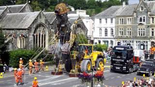 The Man Engine visits Tavistock