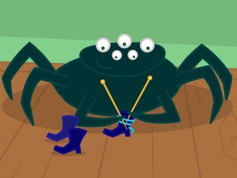 Une araign�e sur le plancher