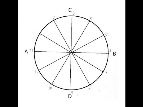 Dividing A Circle Into 12 Equal Parts (видео)