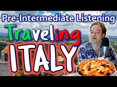 Exciting Pre-Intermediate English ♥ Listening + SUBTITLES: Traveling ITALY