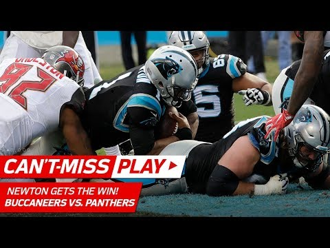 Video: Cam Newton Gets the Win on Amazing TD Drive vs. Tampa Bay! | Can't-Miss Play | NFL Wk 16