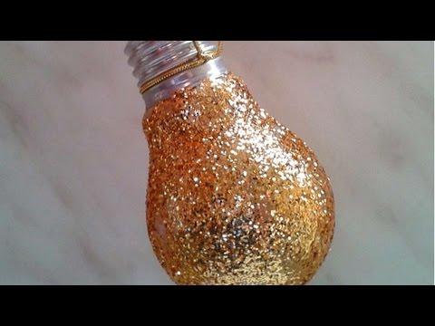 Fai una Decorazione Glitter con una Semplice Lampadina - Fai da Te Casa - Guidecentral