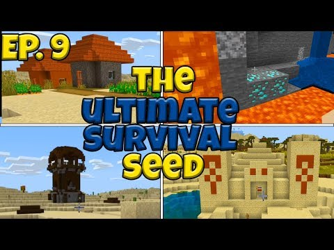 (BANNED Seed) The ULTIMATE Survival Seed In Minecraft Bedrock Edition - Ep 8
